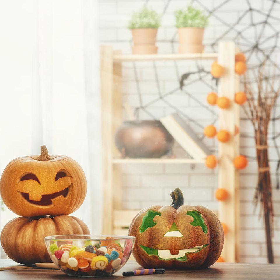 Halloween-Deko, Halloween, Halloween-Kürbis, Halloween-Party
