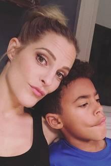 Sandy Mölling mit Sohn Jayden