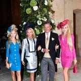Noch mehr Adelsgäste: Prinz Carlo und Prinzessin Camilla von Bourbon und beider Sizilien haben ihre TöchterMaria Carolina undMaria Chiara mitgebracht.