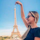 Der klassische Pieks am Eiffelturm darf auch bei Paris-Fan Sandy Meyer-Wölden nicht fehlen.