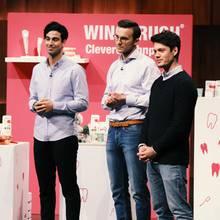"""Burak Dönmezer, Marc Schmitz und Louis Bahlmann, die Erfinder von """"Wingbrush"""""""