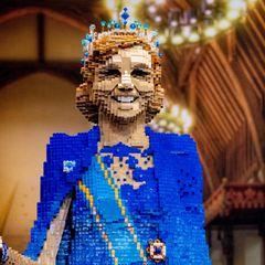 Auchvon Königin Máxima können Besucher eine Miniaturausgabe aus Lego-Steinen bewundern.