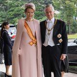 Königin Mathilde und König Philippe sind aus Belgien angereist.