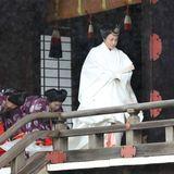 Kaiserin Masako trägt für die Zeremonie ein traditionelles Gewand.