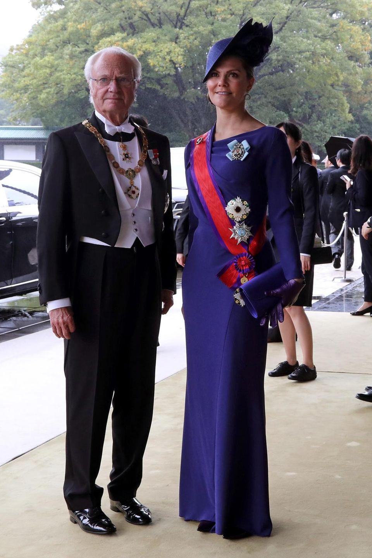 König Carl Gustaf und Prinzessin Victoria nehmen für Schweden an der Inthronisierung teil.