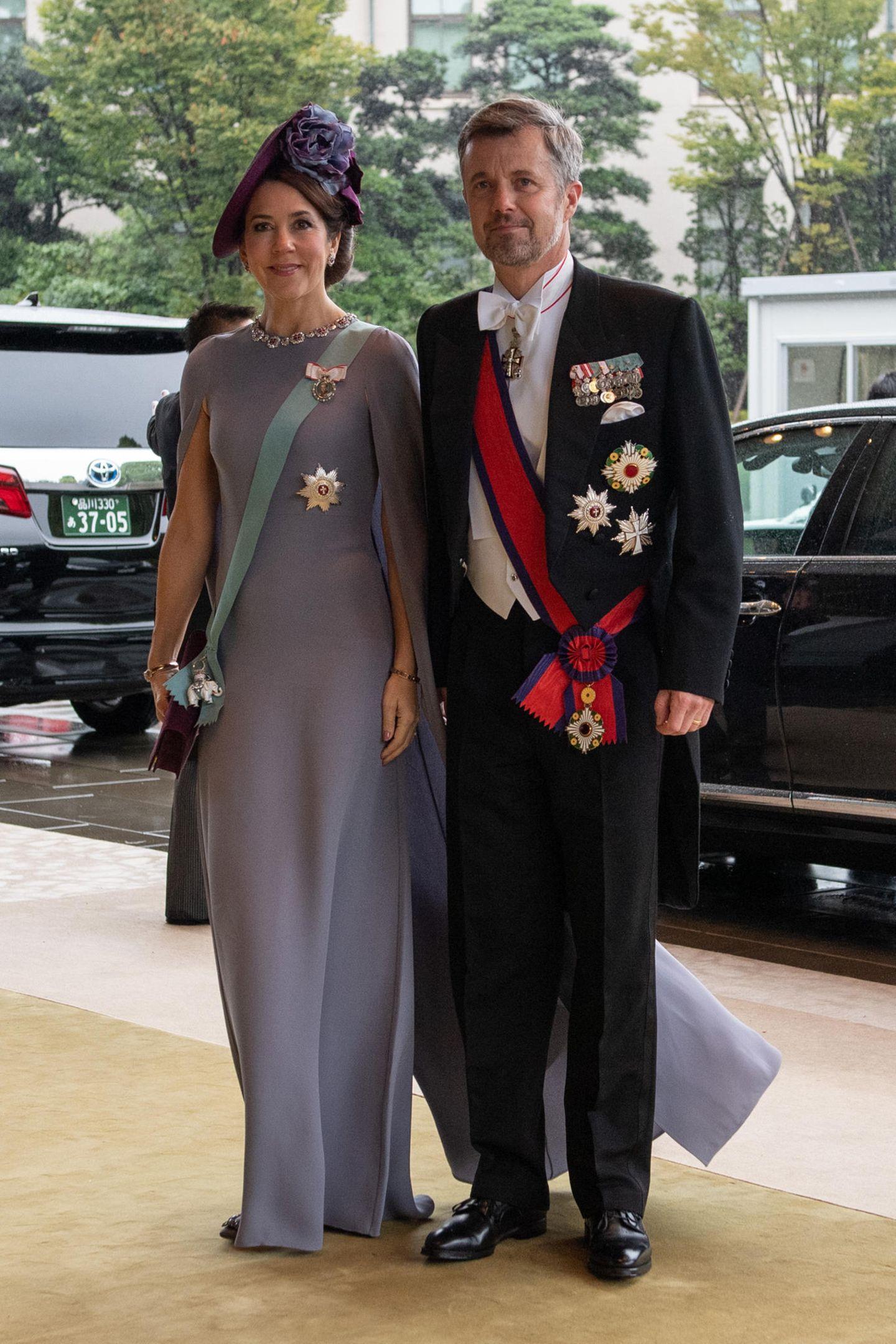 Prinzessin Mary und Prinz Frederik sind aus Dänemark gekommen.