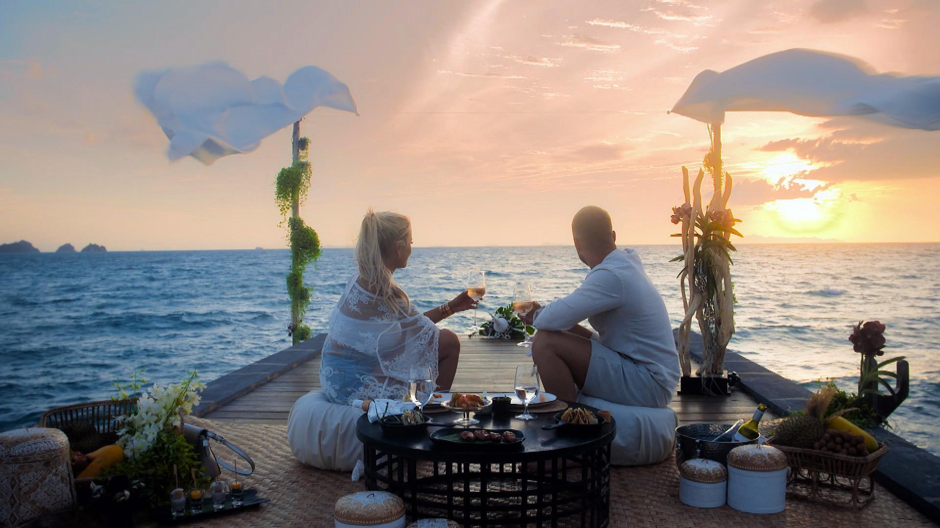 Jade und Filip bei einem romantischen Date
