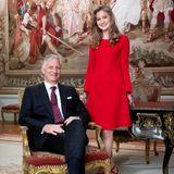 23. Oktober 2019  Mit ihrem Vater König Philippe posiert Prinzessin Elisabeth für eine weitere offizielle Aufnahme.