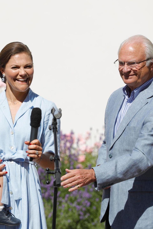Prinzessin Victoria undKönig Carl Gustaf