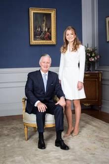 König Philippe ist sichtlich stolz auf seine Tochter.