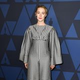 Kleinkariert: Saoirse Ronan in Emilia Wickstead