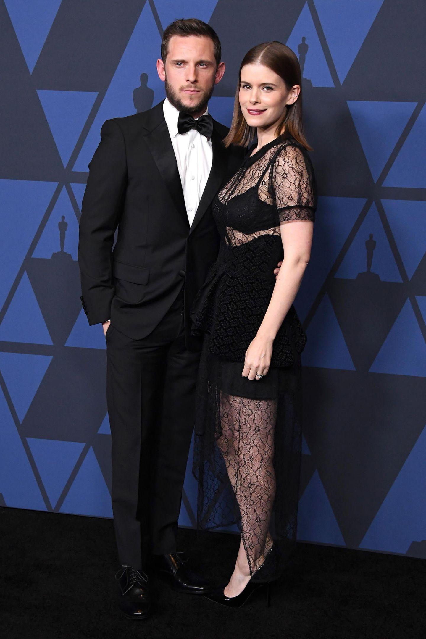 Spitze mit Durchblick: Kate Mara, hier mit Ehemann Jamie Bell