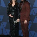 """Mit Babybauch und Paillettenglamour:Jessica Blair Herman und """"Downton Abbey""""-StarAllen Leech"""
