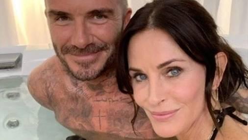 David Beckham und Courteney Cox