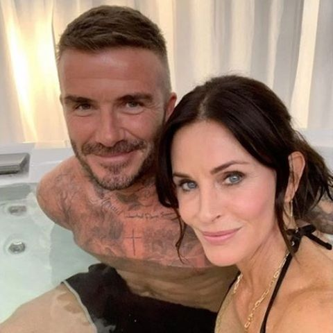David Beckham und Courteney Cox