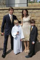 Prinz Louis, Prinz Noah, Tessy Antony de Nassau und Prinz Gabriel von Luxemburg