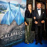 """28. Oktober 2019  Königin Máxima und König Willem-Alexander besuchen in Amsterdam die Premiere des Filmes """"Galapagos - Hoffnung für die Zukunft""""."""