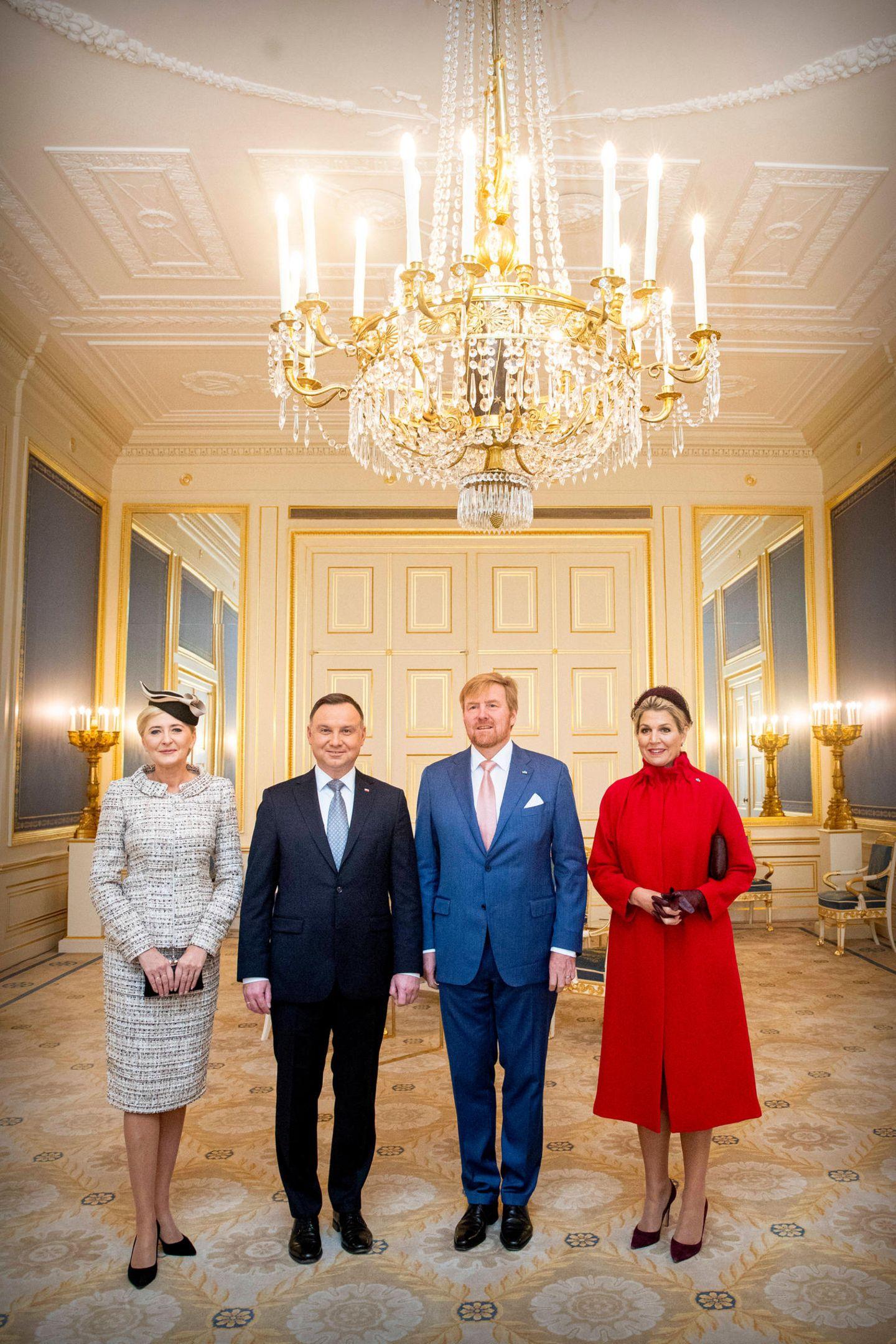 29. Oktober 2019  König Willem-Alexander und Königin Máxima empfangen das polnische PräsidentenpaarAgata Kornhauser-Duda und Andrzej Duda auf Schloss Noordeinde.