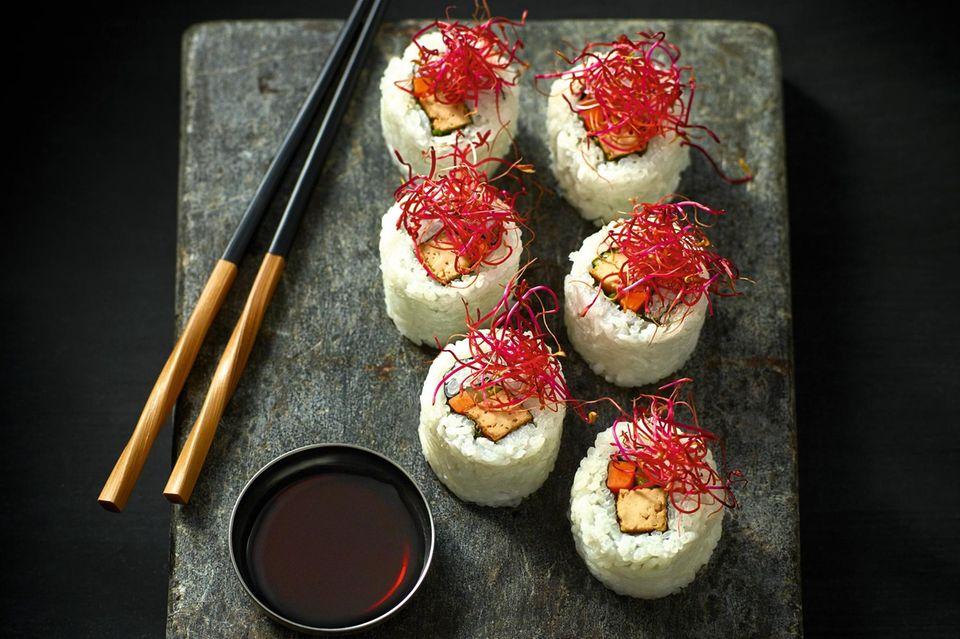 Gourmet: Teriyaki-Tofu- Ura-Maki