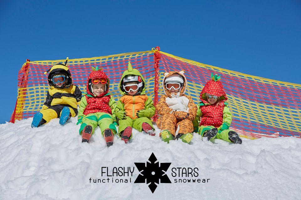 """Die Kinder-Schneeanzüge von """"Flashy Stars"""""""