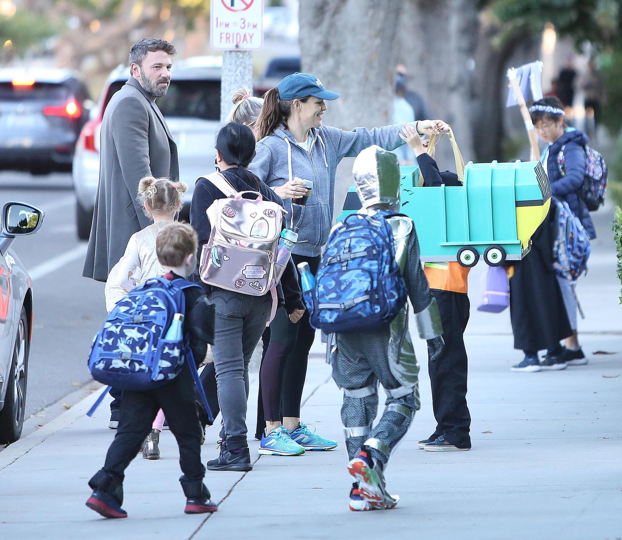 Ben Affleck und Jennifer Garner mit ihren drei Kids