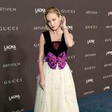 Romantisch verträumt zeigt sich Brie Larson in Gucci.  Gucci ist Sponsor der illustren Gala, und dies ist natürlich nicht der einzige Red-Carpet-Look des Luxuslabels.
