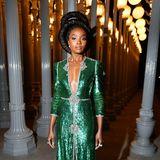 Schön wie ein Smaragd: Den beeindruckendsten Style präsentiert Schauspielerin Kiki Layne.