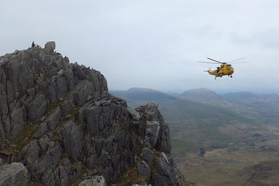 Bergsteiger Rettungsaktion mit Hubschrauber