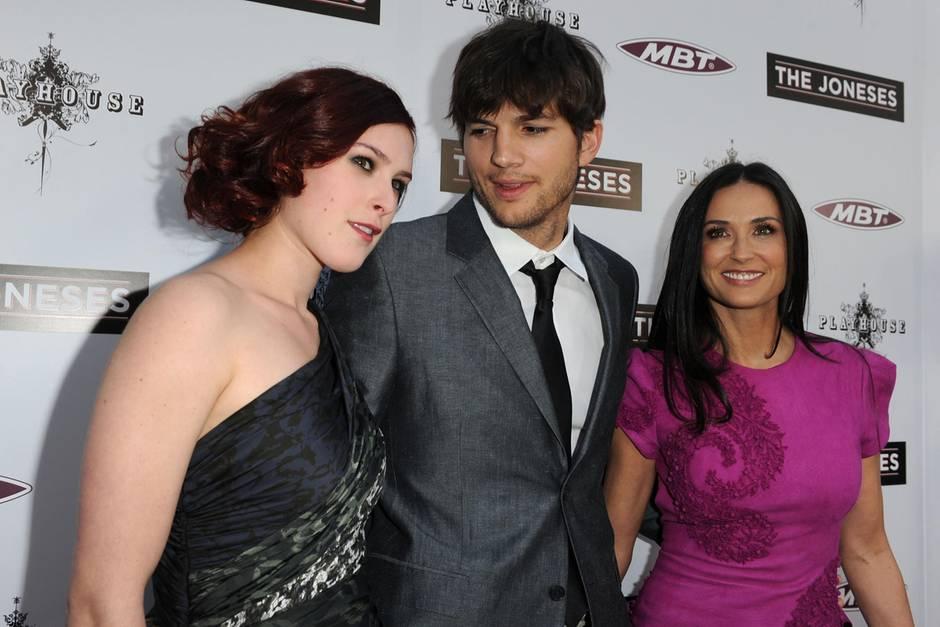 Rumer Willis, Ashton Kutcher und Demi Moore