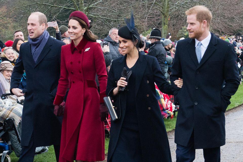 Prinz William, Herzogin Catherine, Herzogin Meghan und Prinz Harry