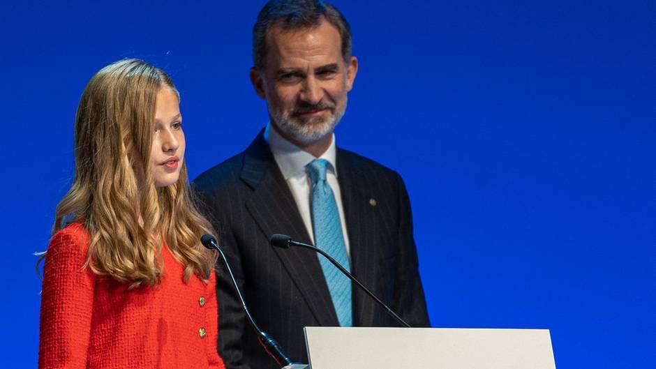 Prinzessin Leonor und König Felipe