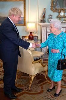 Boris Johnson und Queen Elizabeth