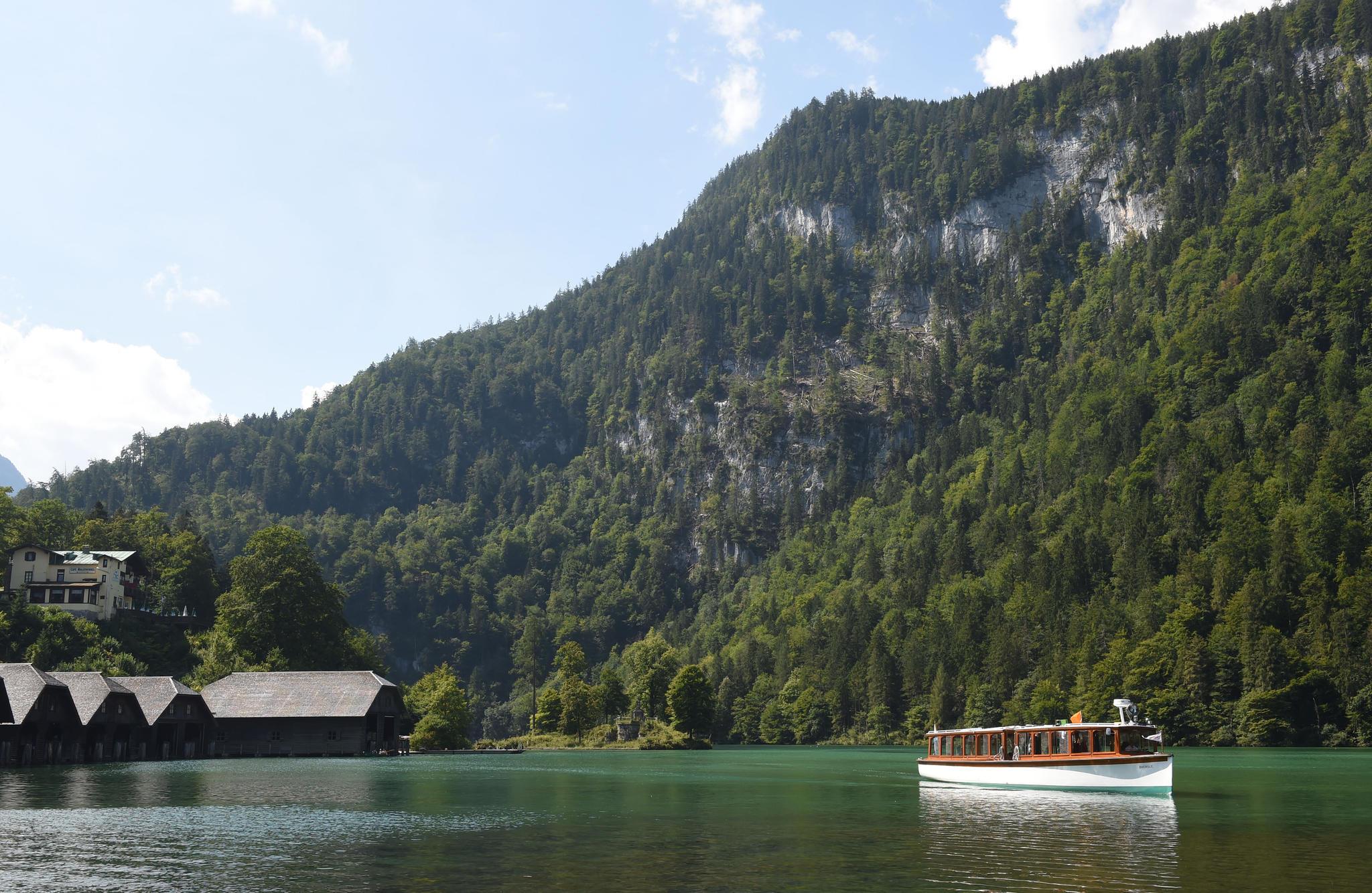 Der Königssee im Berchtesgadener Land