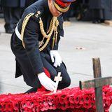 Auch Harry hinterlässt ein Zeichen zur Erinnerung. Es ist bereits das siebten Mal, dass Harry den Gedenkgarten vor der Westminster Abbey besucht. In diesem Jahr ist etwas Besonderes für ihn, denn erstmals begleitet ihn Herzogin Meghan.