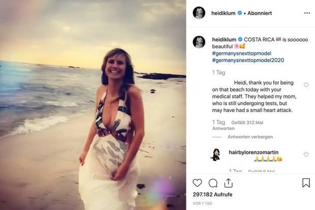 """Heidi Klum : Medizinischer Notfall am Rande von """"GNTM""""-Dreharbeiten"""