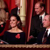 Herzogin Catherine, Prinz William und Prinz Edward scheint das Programm zu gefallen.