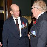 Prinz Edward, Herzog von Kent, istein Cousin der Queen und die derzeitige Nummer 48 der britischen Thronfolge,schaut sich das Programm offenbar ohne seine Frau Katharinean.