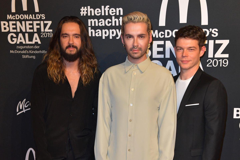 Tom Kaulitz, Bill Kaulitz und Georg Listing am 9. November in München.
