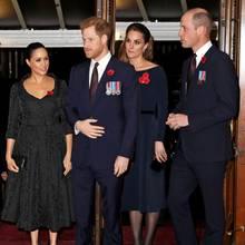 Herzogin Meghan und Prinz Harry, Herzogin Catherine und Prinz William (Fotocollage)