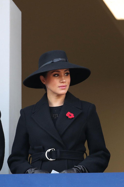 Gräfin von Sophie von Wessex, Herzogin Meghan und Timothy Laurence beim Remembrance Sunday 2019.