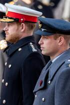 Prinz Andrew, Prinz Harry und Prinz Wiliam am Remembrance Sunday 2019