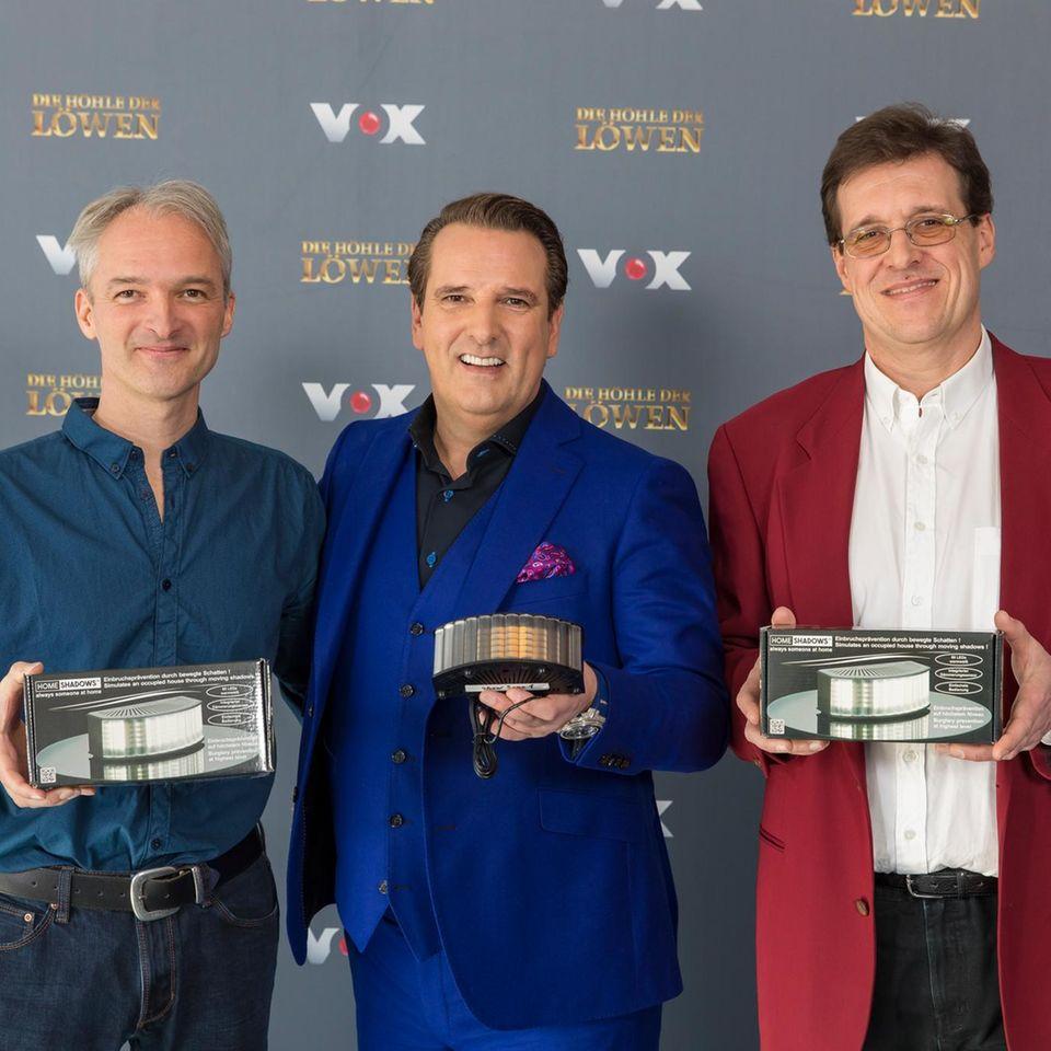 """Gerd Wolfinger, Ralf Dümmel und Roland Huber bei """"Die Höhle der Löwen"""""""