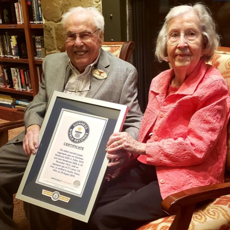 Rekordverdächtige Ehe: US-Paar ist seit 80 Jahren verheiratet