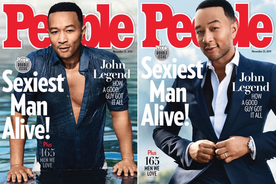 "Die Cover des People-Magazin mit John Legend als ""Sexiest Man Alive""."