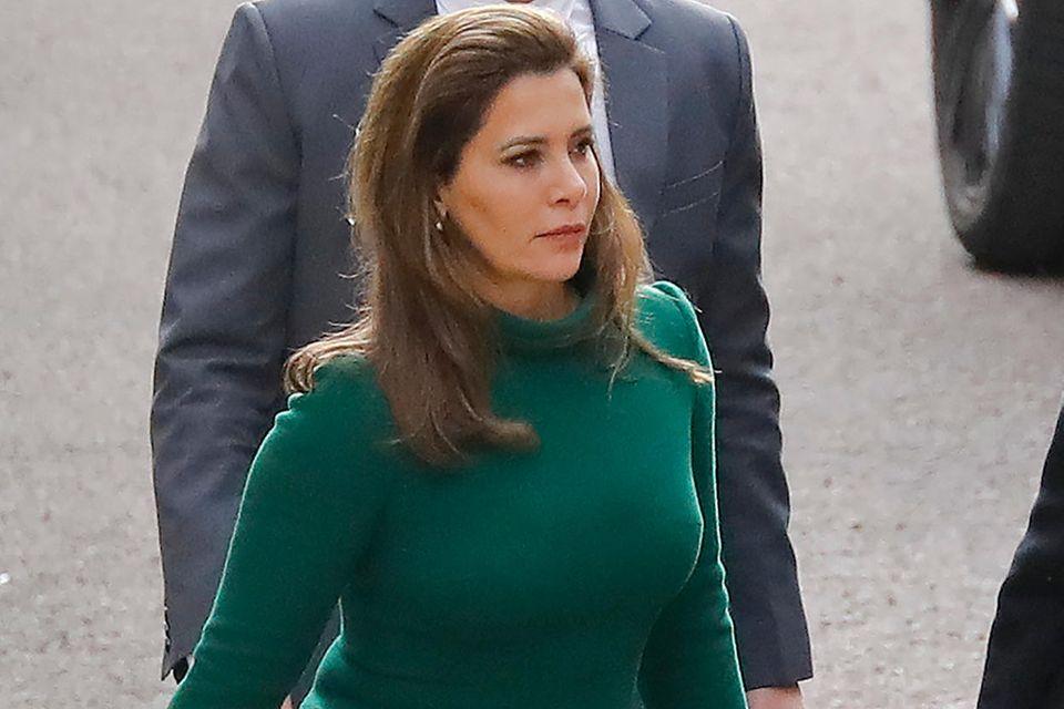 Prinzessin Haya bint al-Hussein kommtam 12. November 2019 am Londoner High Court an.