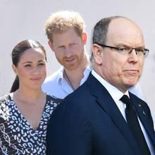 Herzogin Meghan, Prinz Harry und Fürst Albert