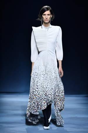 Model auf der Givenchy Runway Show in Paris