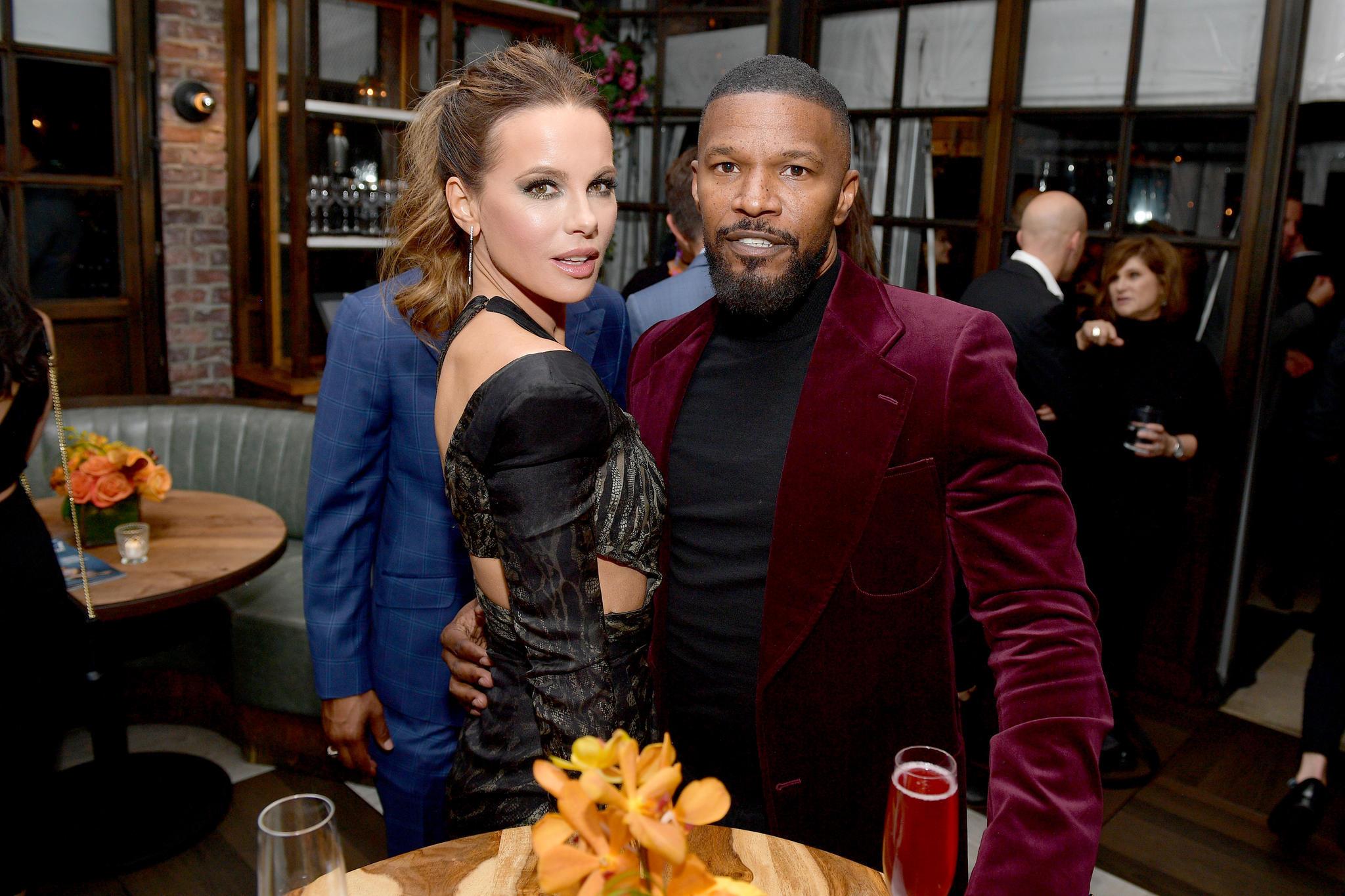 Kate Beckinsale und Jamie Foxx am 14. November 2019 in Los Angeles.
