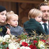La Fête du Prince 2019: Eine Familie wie aus dem Bilderbuch: Pierre Casiraghi mit seiner Frau Beatrice und den beiden gemeinsamen Söhne Francesco und Stefano.