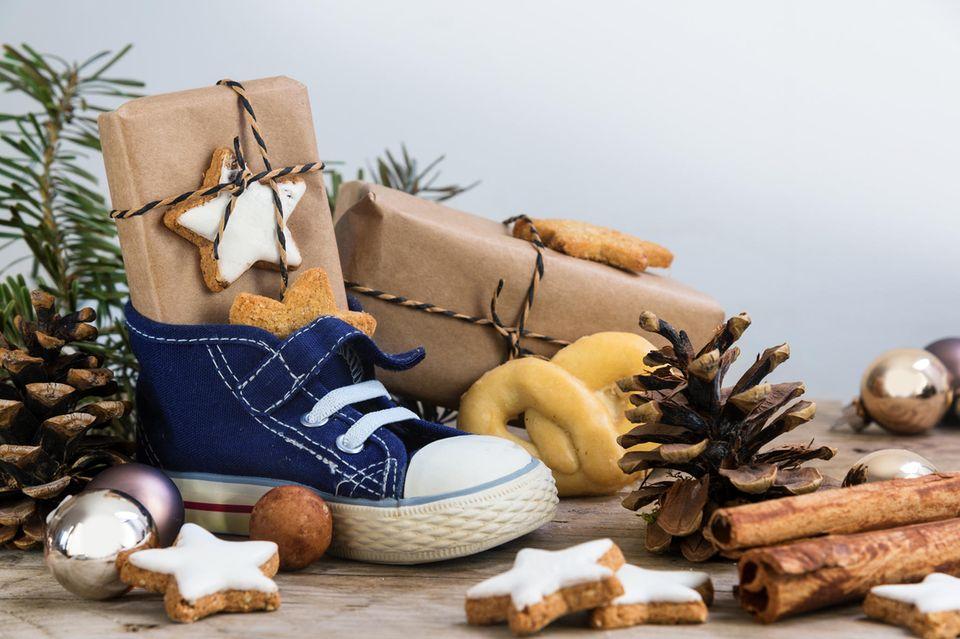 Nikolausgeschenke für Kinder, gefüllter Nikolausstiefel, Nikolaus, Nikolausgeschenk